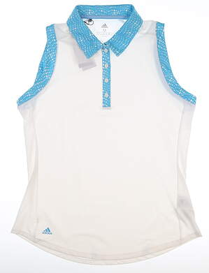 New Womens Adidas Sleeveless Polo Small S Multi MSRP $60 DU7895
