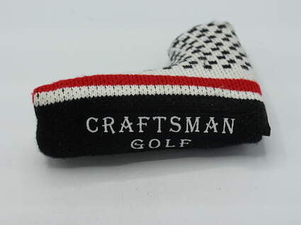 Craftsman Golf Knit Blade Putter Headcover w/Magnetic Closure Black/Red/White