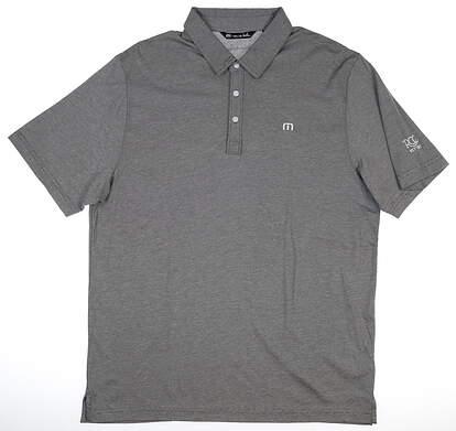 New W/ Logo Mens Travis Mathew Golf Polo X-Large XL Black MSRP $85