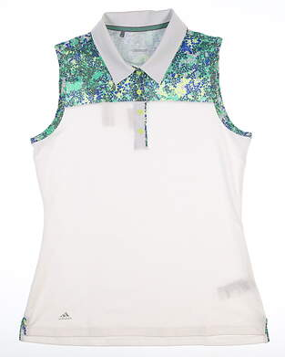New Womens Adidas Sleeveless Polo Small S Multi MSRP $65