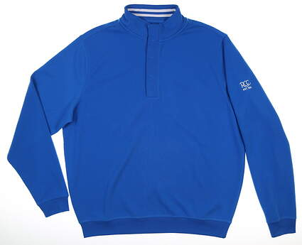 New W/ Logo Mens Footjoy Pullover Large L Blue MSRP $100