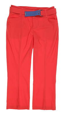 New Womens Jo Fit Belted Flare Capris 0 Red MSRP $100 GB159-TMO