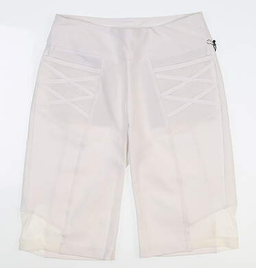 New Womens Tail Golf Shorts 2 White MSRP $85 GD4594-0016