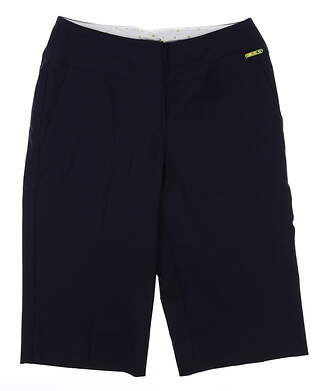 New Womens Swing Control Resort Shorts 10 Navy Blue MSRP $108 B2000