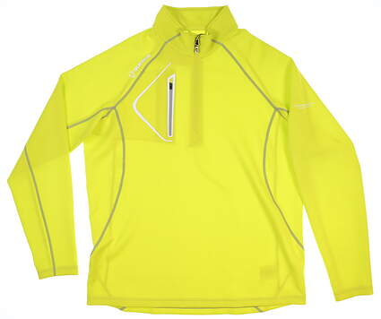 New W/ Logo Mens SUNICE Thermal 1/4 Zip Pullover X-Large Neon Green MSRP $120 S77000