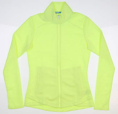 New Womens Adidas ESS Layer Jacket X-Small XS Neon Yellow MSRP $65 DQ0508