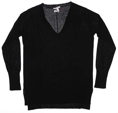 New Womens Peter Millar 100% Cashmere Sweater Small S Black MSRP $240 LF16S05