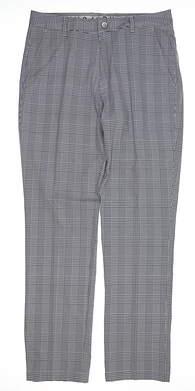 New Mens Puma Plaid Pants 32 x32 Dark Denim MSRP $90 595812 02