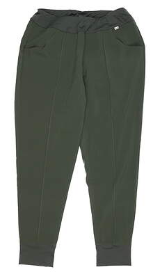 New Womens Puma Jogger Pants Small S Thyme MSRP $70 597722 02 MSRP $75