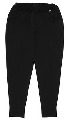 New Womens Puma Jogger Pants Small S Black MSRP $75 597722 01