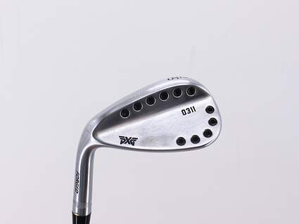 PXG 0311 Chrome Wedge Sand SW 56° 14 Deg Bounce Stock Steel Shaft Steel Wedge Flex Left Handed 35.25in