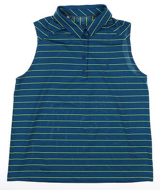 New W/ Logo Womens Under Armour Sleeveless Polo Small S Green UW0481 MSRP $75
