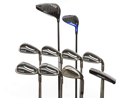 Mens Complete Golf Club Set Right Handed Regular Flex Ping Driver Odyssey Putter Ping Irons & Wedge Retail Price $1555 Used Golf Club Used Golf Club