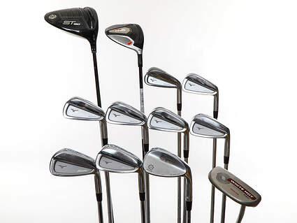 Mens Complete Golf Club Set Right Handed Stiff Flex Mizuno Driver Odyssey Putter Mizuno Irons SM5 Wedge Retail Price $2175 Used Golf Club Used Golf Club