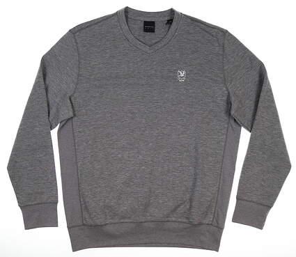 New W/ Logo Mens Dunning Player Sweater Medium M Gray MSRP $125 D7F17K917