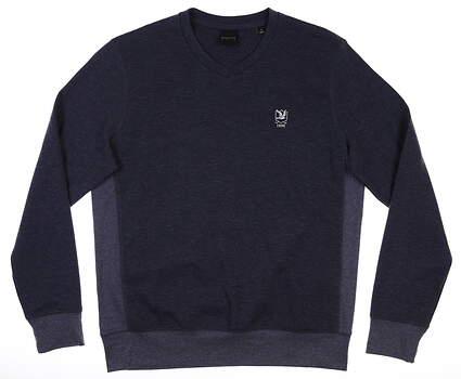 New W/ Logo Mens Dunning Sweater Medium M Navy Blue MSRP $125 DN800797