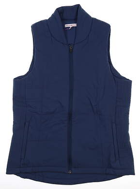 New Womens Peter Millar Vest Medium M Blue MSRP $180 LS17EZ03