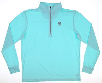New W/ Logo Mens Straight Down Crusher 1/4 Zip Pullover Large L Sea 60372 MSRP $86