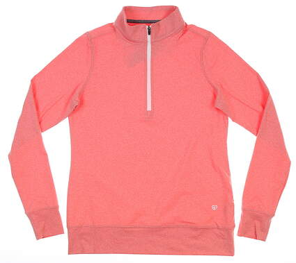 New Womens Straight Down Skye 1/4 Zip Pullover Small S Pink W60303 MSRP $110