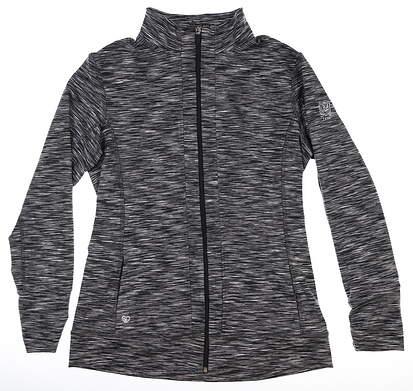New W/ Logo Womens Straight Down Jacket Large L Black MSRP $130 W60250