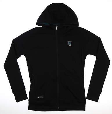 New W/ Logo Womens Adidas Fleece Jacket Medium M Black MSRP $100