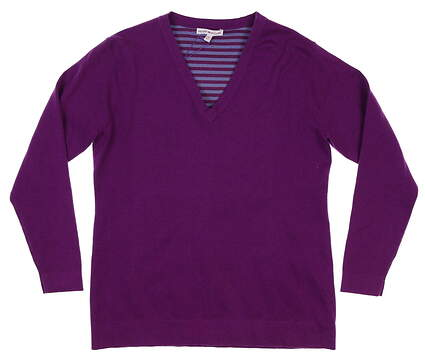 New Womens Peter Millar Sweater Large L Purple MSRP $175 LF16ES01