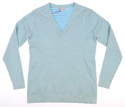 New Womens Peter Millar Sweater Small S Blue MSRP $169 LF16ES01