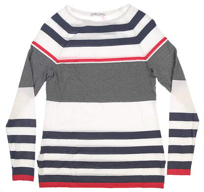 New Womens Fairway & Greene Amy Sweater Large L Navigator J32270 MSRP $185