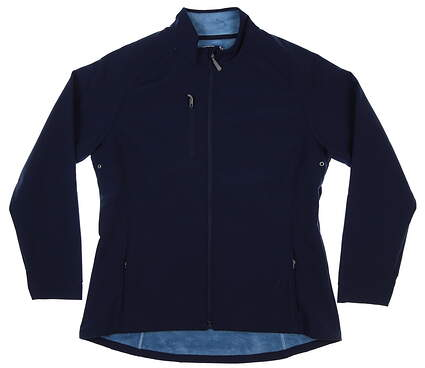 New Womens Peter Millar Soft Shell Jacket Large L Navy Blue MSRP $125 LF17EZ05