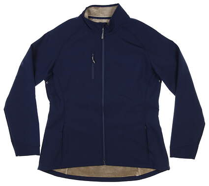 New Womens Peter Millar Soft Shell Jacket Large L Navy Blue MSRP $125 LF16EZ05