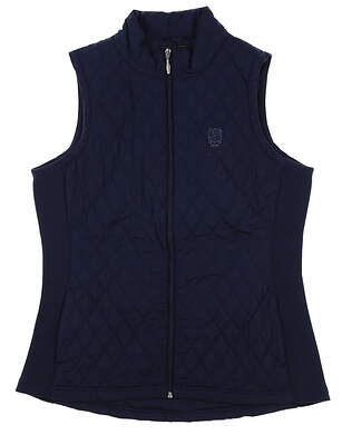 New W/ Logo Womens Straight Down Laurel Vest X-Large Navy Blue MSRP $106 W60271
