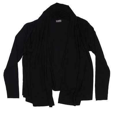 New Womens Jo Fit Serenity Cardigan Large L Black UT142-BLK MSRP $120