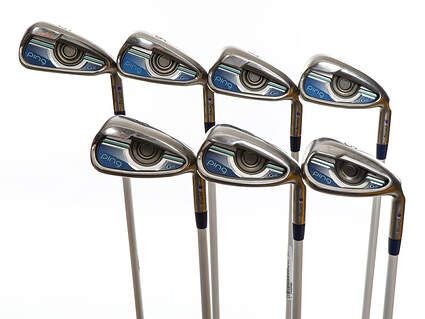 Ping G LE Iron Set 5-PW SW ULT 230 Ultra Lite Graphite Ladies Right Handed Purple dot 37.75in