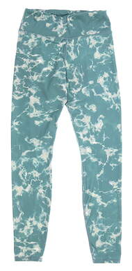 New Womens Puma Marble Print Golf Leggings Small S Blue Spruce MSRP $70 599264