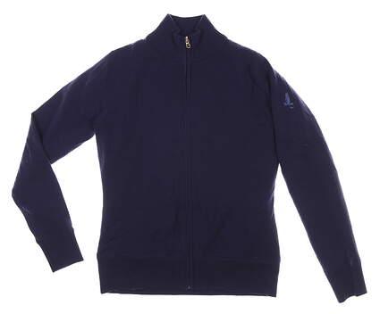 New W/ Logo Womens Fairway & Greene Wind Sweater Large L Navy Blue MSRP $180 F12170