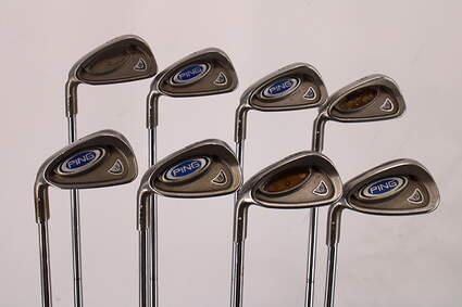Ping i5 Iron Set 3-PW True Temper Dynamic Gold X100 Steel X-Stiff Left Handed White Dot 38.75in
