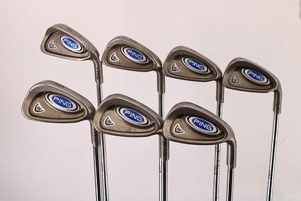 Ping i5 Iron Set 4-PW Ping Z-Z65 Steel Stiff Right Handed Blue Dot 37.75in