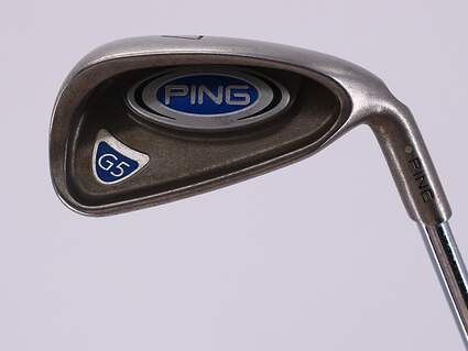 Ping G5 Single Iron 7 Iron Stock Steel Shaft Steel Stiff Right Handed White Dot 37.0in
