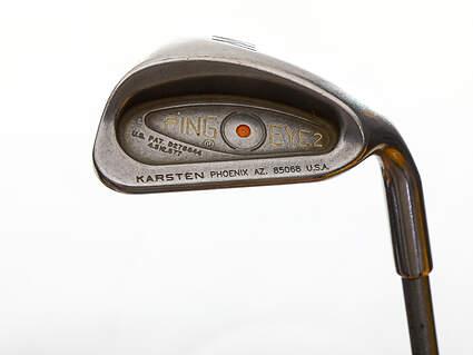 Ping Eye 2 Single Iron Pitching Wedge PW Stock Graphite Shaft Graphite Regular Right Handed Orange Dot 34.5in