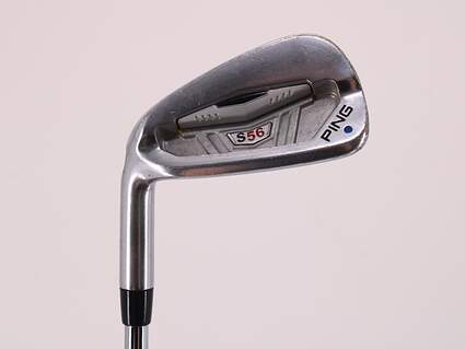 Ping S56 Single Iron 7 Iron Ping AWT with Cushin Insert Steel Regular Left Handed Blue Dot 37.75in
