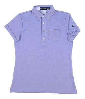 New W/ Logo Womens Ralph Lauren Golf Polo Small S Blue MSRP $85