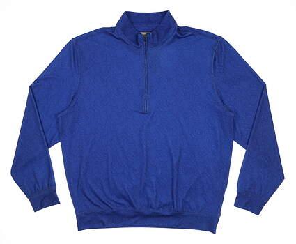 New Mens DONALD ROSS 1/4 Zip Golf Pullover Large L Blue MSRP $145 DR180