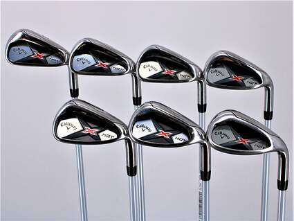 Callaway X Hot 19 Iron Set 5-PW SW Project X PXv Graphite Senior Right Handed 38.0in