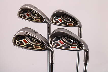 Ping G15 Iron Set 8-PW GW Ping AWT Steel Stiff Right Handed Black Dot 36.5in
