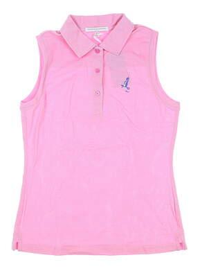 New W/ Logo Womens Fairway & Greene Jakie Sleeveless Polo X-Small XS Pink MSRP $90 J32225