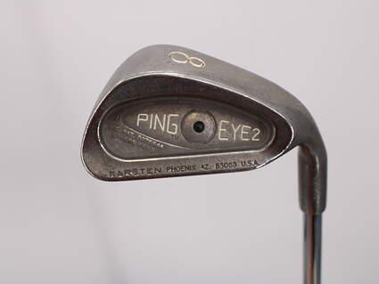 Ping Eye 2 Single Iron 8 Iron Ping ZZ Lite Steel Stiff Right Handed Black Dot 36.25in