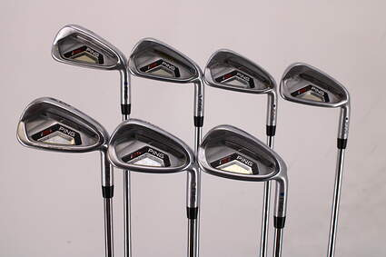Ping I25 Iron Set 4-PW Ping CFS Steel Stiff Right Handed Blue Dot 38.25in
