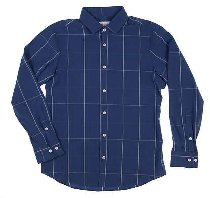 New Mens Mizzen and Main Button Down Large L Blue MSRP $95