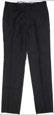 New Mens Peter Millar Wool Golf Pants 38xUn-Hemmed Black MSRP $195 MF16B99