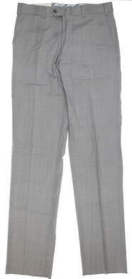 New Mens Peter Millar Wool Dress Pants 38xUn-Hemmed Gray MSRP $195 MF16B99